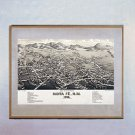 "Bird's Eye Map of ""Santa Fe 1882"" New Mexico Art Print"