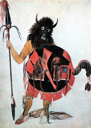 """Buffalo Dancer"" Beautiful Art Print by Karl Bodmer"