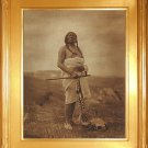 """Sioux Medicine Man"" Edward S. Curtis Art Photograph"