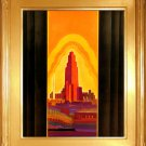 """Los Angeles"" California Art Deco Print Art Deco"