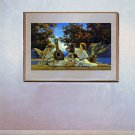 """Lute Players"" BIG Maxfield Parrish Art Deco Print"