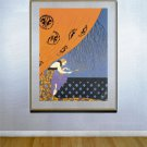 """Fall"" HUGE Art Deco Print by Erte"