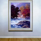 """Swiftwater"" HUGE Maxfield Parrish Art Deco Print"