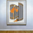 """Coquette"" HUGE Art Deco Print by Erte"