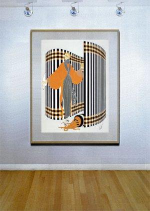 """Coquette"" HUGE Art Deco Print by Erte"