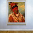 """White Cloud"" HUGE George Catlin Native American Print"