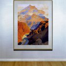 """The Grand Canyon"" HUGE Maxfield Parrish Art Deco Print"
