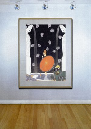 """Bath of the Marquise"" HUGE Art Deco Print by Erte"