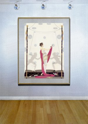 """""""The Duel"""" HUGE Art Deco Print by Erte"""