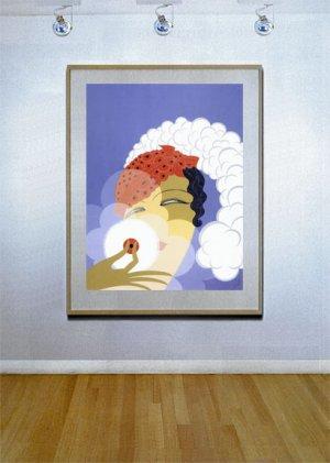 """""""Makeup"""" HUGE Art Deco Print by Erte"""