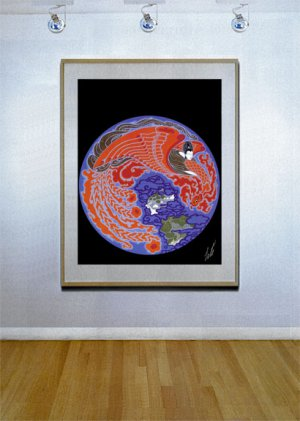 """""""Dream Voyage"""" HUGE Art Deco Print by Erte"""