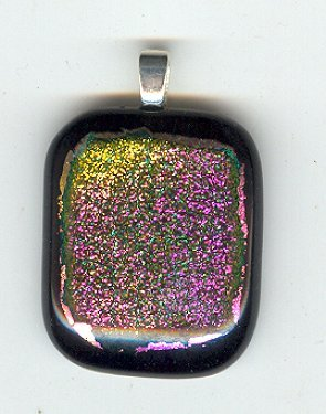 Amazing Dichroic Glass Pendant with bail #10