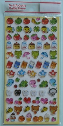 Q-lia Cutie Collection Sticker Sheet