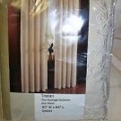 NEW Lot of 2 S Lichtenberg Tristan Embroidered Curtain Panels Oyster Color