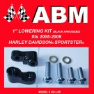 "1"" LOWERING KIT fit 2005-2009 HARLEY DAVIDSON SPORTSTER - BLACK"