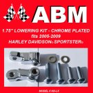 "1.75"" LOWERING KIT fits 05-09 HARLEY DAVIDSON SPORTSTER - CHROME"