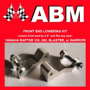 YAMAHA RAPTOR 660 660R ATV QUAD FRONT END LOWERING KIT