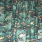 New Window Curtain Valance made from CRAPPIE FISH FISHING fabric   FREE SHIPPING