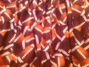 New Window Curtain Valance made from SPORTS FOOTBALL fabric   FREE SHIPPING