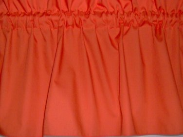 New Window Curtain Valance made from Solid Orange Tangerine Cotton fabric FREE Shipping