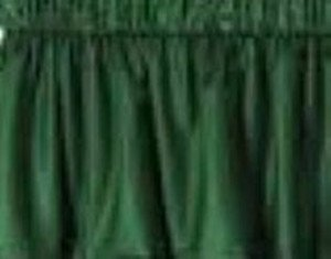 New Window Curtain Valance Made From Solid Forest Hunter Green Cotton fabric