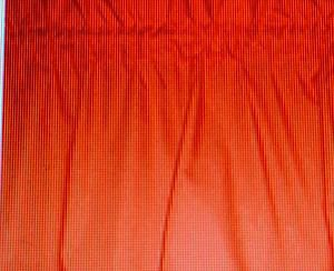 New Window Curtain Valance made from Tangerine Orange Cotton fabric