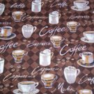 New Window Curtain Valance made from Coffee Java Mocha  Cotton fabric