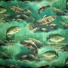 New Window Curtain Valance Made From Crappie Fishing Cotton fabric