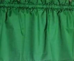 New Window Curtain Valance Made From Solid Primary Green Cotton fabric