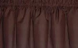 New Window Curtain Valance Made From Solid Chocolate Brown Cotton fabric