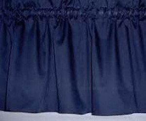 New Window Curtain Valance Made From Solid Navy Blue Cotton fabric