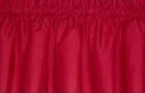 New Window Curtain Valance Made From Solid Primary Red Cotton fabric