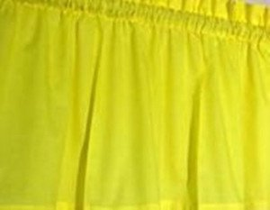 New Window Curtain Valance Made From Solid Sunshine  Yellow Cotton fabric