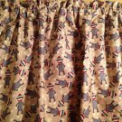New Window Curtain Valance Made From Tan Grey Sock Monkey Cotton fabric