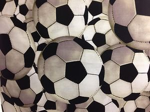 New Window Curtain Valance made from Soccer Sports Ball fabric