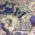 "Elegant Purple Butterfly Valance HaNdMaDe Window Topper Cotton fabric 43""W x15""L"