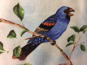 "Spring Bird Birds Blue HaNdMaDe Window Curtain Valance Cotton fabric 43""W x 15""L"