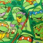 "42""wide 15""long Window Curtain Valance Teenage Mutant Ninja Turtles Green fabric"