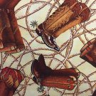 "Brown Cowboy Boots Cowgirl  43"" W 15""L Window Curtain Valance Cotton Fabric"