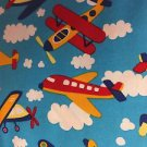"Kids Baby's Airplane HaNdMaDe Window Curtain Valance Cotton fabric 43""W x 15""L"