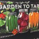 "Mason Jar Summer Salad Valance HaNdMaDe Window Topper Cotton fabric 43""W x 15""L"