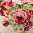"Cranberry Cottoge Rose HaNdMaDe Window Curtain Valance Cotton fabric 43""W x 15""L"