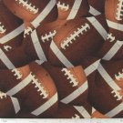 """52""""wide 15"""" long Window Curtain Valance  Football Sports Game Cotton fabric"""