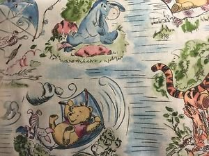"Classic Winnie Pooh Tigger Eeyore Cotton fabric 42""W 15""L Window Curtain Valance"