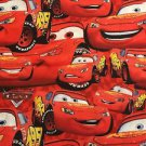 "Red Cars HaNdMaDe Window Curtain Valance from Disney Cotton fabric 43""W x 15""L"