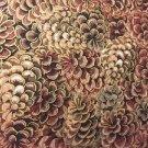 "Pinecones Pine Cone  HaNdMaDe Window Curtain Valance Cotton fabric 43""W x 15""L"