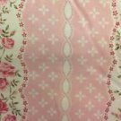 "Pale Pink Floral Cotton fabric Handmade Window Curtain Valance 42""wide 15""long"