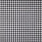 "Black And White Gingham 42""wide 15"" long Window Curtain Valance Cotton fabric"