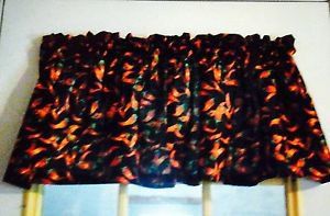 """52"""" wide 15"""" long Window Curtain Valance Red Hot Chili Pepper Cotton fabric"""