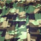 "43"" wide 15"" long Window Curtain Valance Black Green Camo Camouflage fabric"